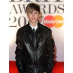 Justin Bieber Black Jacket in Brit Awards 2011 | Men's Leather Jacket Uk