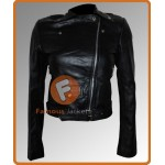Keira Knightley Domino Black Jacket | Domino Leather Jacket For Women's