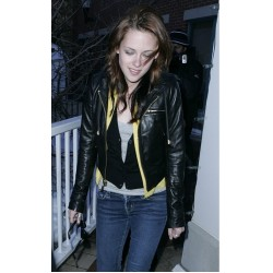 Kristen Stewart Twilight Saga: Breaking Dawn 2 Black Jacket | Leather Jacket For Women's