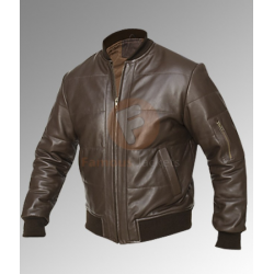 Men's Vintage Retro Bomber Brown Jacket | Vintage Leather Jacket For Men's