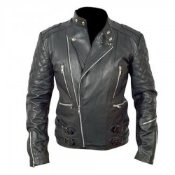 Men's Brando Black Biker Leather Jacket | Motorcycle Brando Leather Jacket