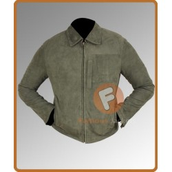 Men's Green Suede Leather Jacket | Mens Suede Leather Jacket