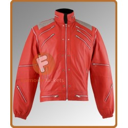 Fancy Dress Michael Jackson Beat It Jacket costume Red Leather Jacket RRP £119.95 | Leather Jacket For Men's