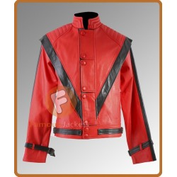 Michael Jackson Thriller Leather Jacket | Red Leather Jacket