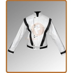 Michael Jackson White Thriller Jacket | Mens White Leather Jacket