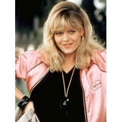 Michelle Pfeiffer Grease 2 Pink Reversible Ladies Satin Jacket Costume | Womens Jackets Sale