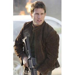 Mission Impossible 3 Tom Cruise Suede Leather Jacket | Brown Leather Jacket Sale