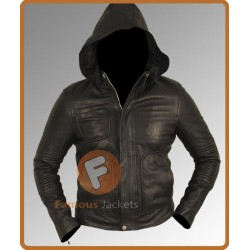Mission Impossible Ghost Protocol Tom Cruise Hoodie Jacket | Black Leather Jacket Mens