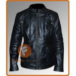 Mortal Instrument Clary Fray Black Jacket | LILY COLLINS Black Leather Jacket