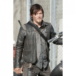Norman Reedus The Walking Dead Vest | Daryl Dixon Leather Vest Wings