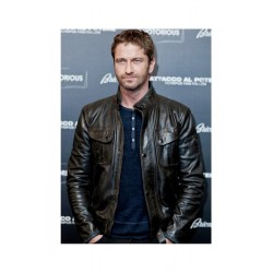 Olympus Has Fallen Gerard Butler Black Leather Jacket | Black Leather jacket