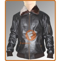 A2 Pilot Vintage Black Flight Bomber Men's Leather Jacket | Mens Bomber Jacket