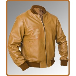 Safari Camel Men's Leather Jacket | Camel Safari Sheep Leather Jacket