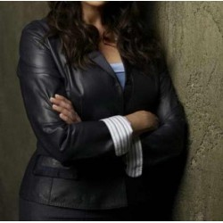 Sanctuary: Amanda Tapping Black Jacket | Black Leather Jacket