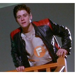 Scary Movie Jon Abrahams (Bobby Prinze) Black Leather Jacket | Mens Leather Jacket