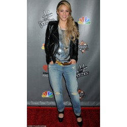 Shakira's Jacket On The Voice May 13 | Women's Leather Jacket Uk