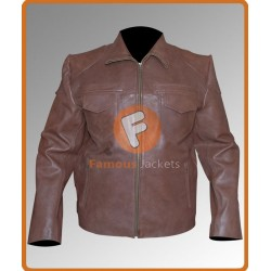 Sheriff Walt (Robert Taylor) Longmire S2 Distressed Jacket | Mens Leather Jacket Sale