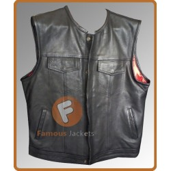 Slim Fit Mens Motorcycle Vest | Men's Biker Vest For Sale