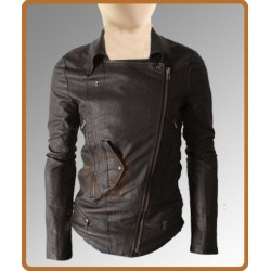 Slim Fit Multi Pocket Rider Dark Brown Jacket | Leather Jacket For Men's