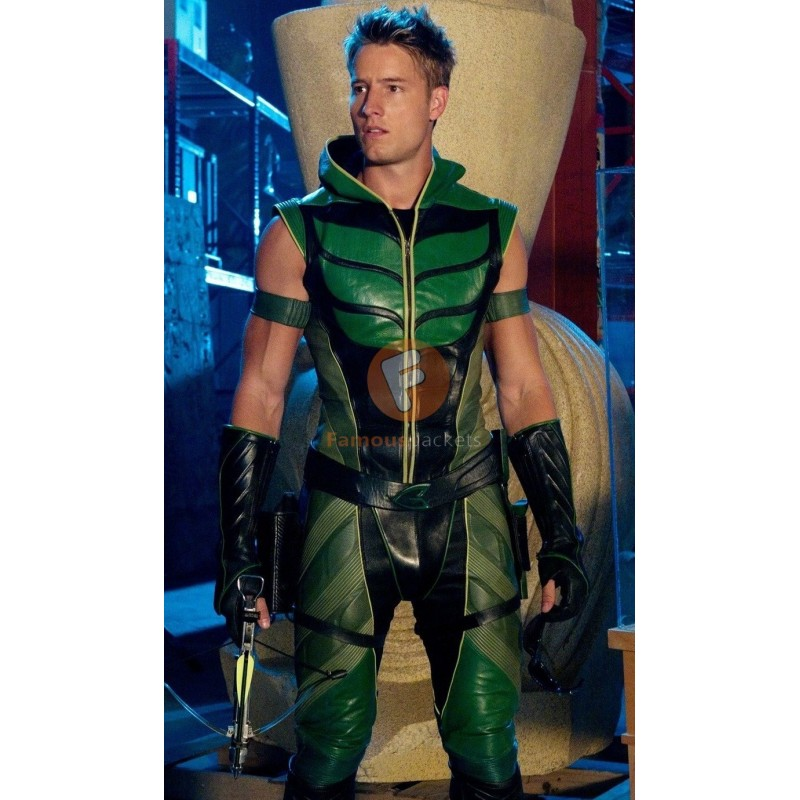 ... Smallville Green Arrow (Oliver Queen) Leather Costume | Leather Movie Costumes ...  sc 1 st  Famous Jackets & Buy Smallville Green Arrow Oliver Queen Leather Costume
