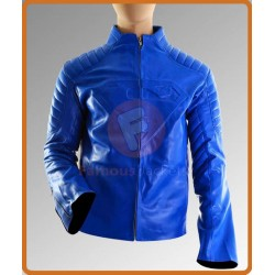 Smallville Superman Clark Kent Blue Leather Jacket | Mens Leather Jackets UK Sale