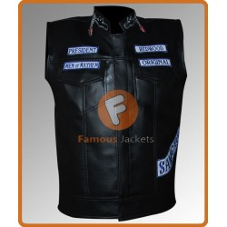 Sons Of Anarchy Jax Teller Vest | Mens Leather Vest