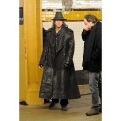 Sorcerer's Apprentice Nicolas Cage (Balthazar) Trench Coat | Black Leather Trench Coat