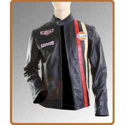 Steve Mcqueen Lemans Vintage Black Jacket |Mens Black Leather Jacket