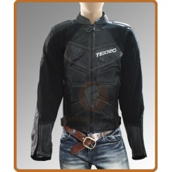 Teknic Mercury Black Biker Jacket | Biker Leather Motorcycle Jacket