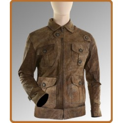 The Expendables 2 Jason Statham Jacket | Mens Brown Distressed Leather Jacket