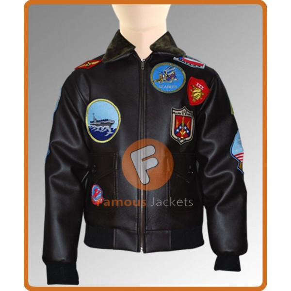 Tom Cruise Top Gun Bomber Jacket | G-1 Navy flight Leather Jacket