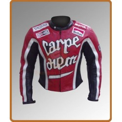 Torque Carpe diem (Cary Ford) Motorcycle Jacket | Black Biker Leather Jacket