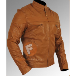 Vintage Boston Brown Leather Jacket | Men's Leather Bomber Jacket