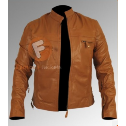 Vintage Cafe Racer Tan Motorcycle jackets | Brown Leather Jackets Mens