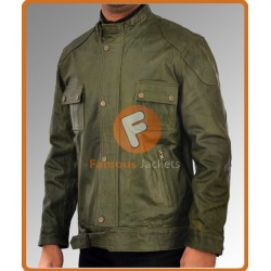 Wanted Thomas Kretschmann (Cross) Green Jacket | Mens Leather Jacket